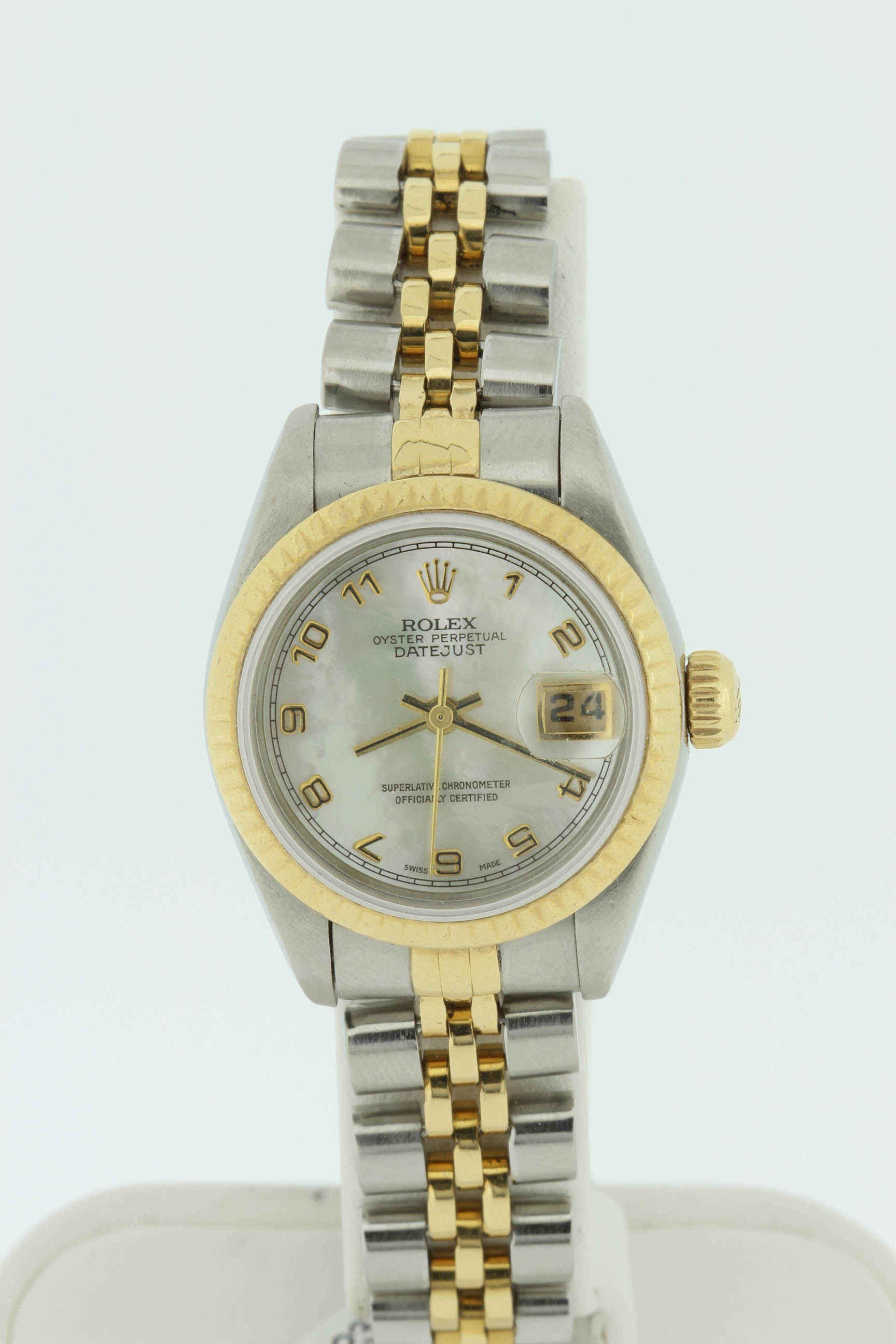 Ladies 18k and Stainless Steel Rolex 26mm DateJust with Mother Pearl Dial $3600